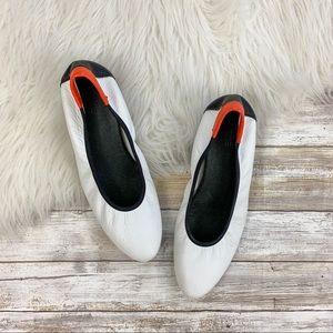 Arche White Leather Flats